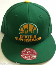 NBA Seattle Supersonics Mitchell and Ness Snapback Cap Hat M&N NEW!