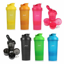 fiTurbo 3 in 1 400ml Protein Shaker Sports Drink Supplements Pro Mixer 6 colors