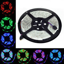 5M Waterproof 12V RGB 300LEDS SMD 3528/5050 LED Strip Light Lamp+24 44 IR Remote