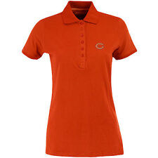 Antigua Women's Chicago Bears Spark 100% Cotton Washed Jersey 6 Button Polo