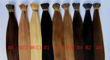 """Any Colors 100S 18"""" 100% Remy Human hair extensions Keratin Stick tip I-tip"""