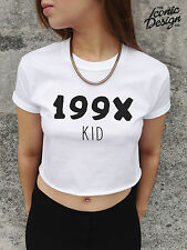*199X KID Crop Top Tank Fashion Blogger Tumblr 1990 1990's 90's Dope Fresh Swag*
