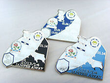 Derby Jan/Feb Away 2013/14 v Leicester Blackburn Sheffield Wednesday Match Badge