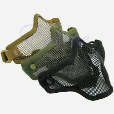 Half Lower Face Metal Steel Net Mesh Hunting Tactical Protective Airsoft Mask