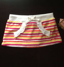 NWT Juicy Couture Infant Baby Girl Terry Cloth Striped Skirt (6-12 Months)