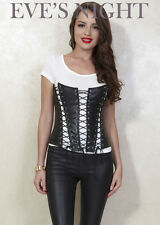 Eve's Night New Women's Spandex Black Corsets and Basque Bustiers In Size S-XXL