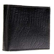 Bacci Men's Lizard Embossed Genuine Leather Center Passcase Bifold Wallet NEW