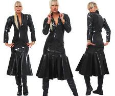 Dress Patent Vinyl Patent Quality Dress Black Pvc Dress Robe De Soirée All Sizes