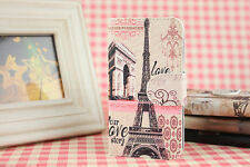 Triumphal arch Eiffel Tower Full Pu Leather Cover Case For Multi mobile phones