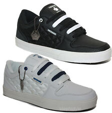 MENS TRAINERS BOYS TWISTED FAITH CANVAS SKATE SHOES LACE UP LOW PUMPS