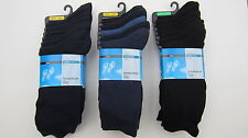 M&S Mens Socks Cotton Rich Black Navy - Blue Mix 7 Pack Fresh Feet Bnwot