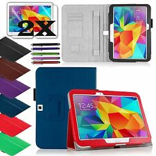 "Samsung Galaxy Tab4 10.1"" inch Tablet PU Leather Stand Cover Case / Accessories"