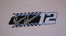 NEW RYAN NEWMAN #12 Alltel Racing Nascar White Checker Tshirt Men Size L or XL
