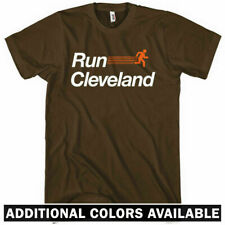 RUN CLEVELAND V2 T-shirt - Ohio Running Track 216 Browns Indians - NEW - XS-4XL