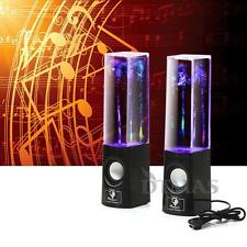 Dancing Water LED Light Music Fountain Speakers for PC MP3 iPhone iPad Laptop