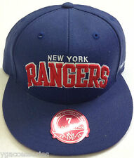 NHL New York Rangers Mitchell and Ness Team Arch Fitted Flat Brim Cap Hat M&N