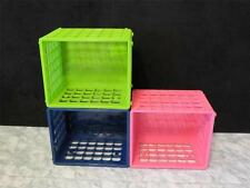 "NEW Modular Cube Stackable Storage Crate 6 1/8""x 7 3/8"" x 8 3/4"" Mini Milk Crate"