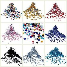SQUARE Craft Nail Art Rhinestone Gems 2mm x 3D Acrylic Decoration Embellishments