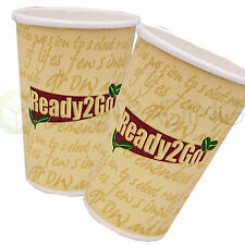 Disposable Paper COFFEE/TEA CUPS Ready 2 Go (7oz,8oz,12oz) Catering-Takeaway
