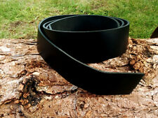 Cristopher BLACK LEATHER BELT BLANK 3 mm thick 58 inch long REAL LEATHER