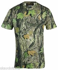 Mens Camouflage Tree Print T-Shirt - Fishing Camo Hunting