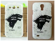 2014 New arrive Black Wolf game of thrones hard case cover for Samsung