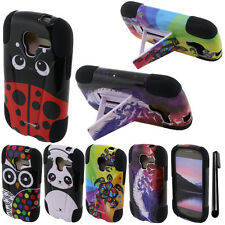 For Samsung Galaxy Exhibit T599 STAND HYBRID Rubber HARD Case Phone Cover + Pen