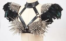 SPIKE BRA THE ULTIMATE SPIKED BRA! CLUBWEAR, S/M/L, BLACK WITH SILVER SPIKES