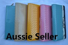Women's Real Leather  Card Holder Case Zipped Coin Purse Wallet 4 colours