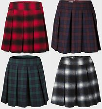 Ladies Womens Papaya at Matalan Tartan Skirt Pleated Front Knee Length Size 8-20
