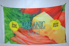 Organic Food Sold Here promotion store farm market  FLAG Banner 3x5