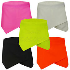 Ladies Women New Skorts Shorts Skirt Neon Irregular Flanging Wrap Plain Culottes