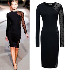 Big Sale! New Celebrity Style Sexy Long Sleeve Party Bodycon Dress-C00