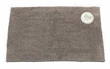 Pewter Grey Reversible 100% Cotton Bath Mat Bathroom Rug