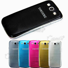 BRUSHED ALUMINUM REPLACEMENT BATTERY CASE COVER FOR SAMSUNG GALAXY S3 III I9300