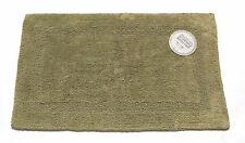 Sage Green Reversible 100% Cotton Bath Mat Bathroom Rug