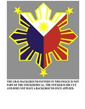 Filipino Pride Star Sun Sticker Die Cut Decal Philippines Style1