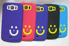 SOFT MATTE FINISH SMILEY BACK COVER CASE MICROMAX  A110 A 110