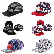 5 Panel Hip Hop Hat Red Black Aztec Native Stripe Paint Mesh Cap Camp Goldtop