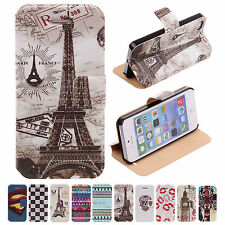 2014 Original CHEAP Pictorial Flip Impact Protector Cases For Apple iPhone 5/5S