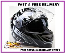 **NEW LAUNCH** Viper RS-V9 Dimension Silver Black Motorcycle Motorbike Helmet