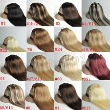 15''18''22''24''26'' Clip In Remy Human Hair Extensions All Colors Full Head UK