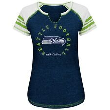 Seattle Seahawks WOMENS Shirt V-Neck T-Shirt  by Majestic Athletic