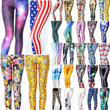 Fashion Womens Slim Graphic Printed Legging Stretchy Pencil Jeggings Tight Pants