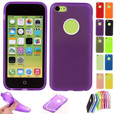 For Apple iPhone 5C Candy Colour Soft Case Cover Skins Shell Shield Phone House