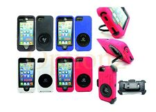 3in1 Rugged Hybrid Hard Case with Belt Clip Holster Cover IPhone 4 4S 5 5S 5C