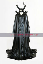 2014 Disney Maleficent Angelina witch Dress Sleeping Beauty costumes cosplay hat