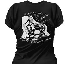 American Woman: Don't Tread on Me : Women's Tee.  Ladies Fitted T-Shirt.