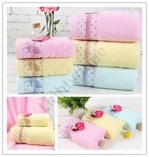 100% Cotton bowknot print Soft Absorbent Cleansing Cloths Hand Face Towel 6 MJ05