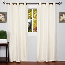 Blackout Window Curtain 2-Panels Lined Grommet Top Energy Saving 6 Solid Colors